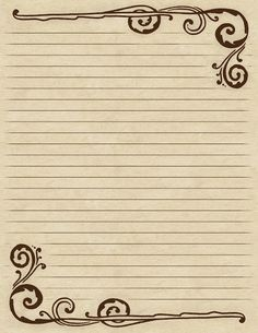 Lilac & Lavender: Swirling Border & Lined Paper