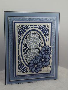 elegant blue layered card by John Lockwood