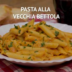 "Pasta al forno ""alla vecchia bettola"" Easy Healthy Pasta Recipes, Pasta Recipes Video, Italian Pasta Recipes, Chicken Pasta Recipes, Easy Meals, Cooking Recipes, Italian Dishes, Easy Recipes, Sauce Crémeuse"