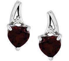 QVC Sterling Choice of Heart-Shaped Gemstone Earrin Peridot, Amethyst, Silver Clutch, Weird Shapes, Garnet Jewelry, My Birthstone, Gemstone Earrings, Blue Topaz, Round Diamonds