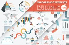 Posted by @newkoko2020 40% OFF Infographic Elements Bundle by Infographic Paradise on @creativemarket