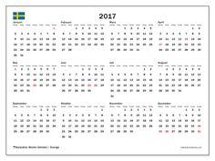 almanacka 2017 sverige