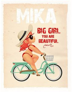 pin up girl in a bike