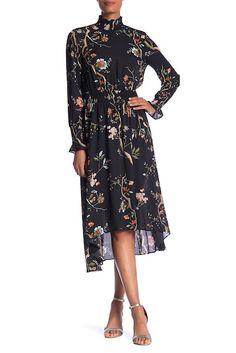 19552b12e38c Image of NANETTE nanette lepore Long Sleeve Smocked Print Dress Modest  Outfits, Modest Clothing,