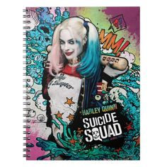 #custom #gifts #Suicide Squad Themed Check out this Harley Quinn character graffiti art featuring Harley with her bat amidst a bunch of white and blue clouds and ooze with orange stars.