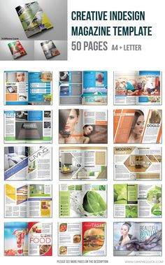 Indesign Magazine Template (50 Pages)