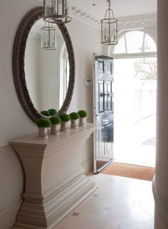 The Foyer of a London Home - Designer Paolo Moschino for Nicholas Haslam Ltd.