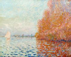 Claude Monet  River Landscape, Autumn, 1883, oil on canvas.