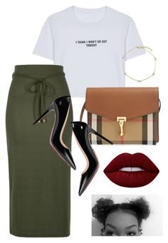 """#223. looking back and smilin'"" by yvon-tani-jackson on Polyvore featuring WithChic, River Island, Prada, Burberry, Lime Crime and BERRICLE"