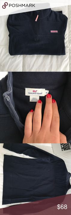 Vineyard vines shep shirt All navy shep shirt bought on the vineyard and in pristine condition Vineyard Vines Jackets & Coats