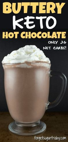 This butter-infused keto hot cocoa tastes amazing and is packed with valuable electrolytes (yes, really! Whip up a delicious cup of this warming keto drink for the…More 15 Indulgent Low Carb Dinner Recipes Keto Fat, Low Carb Keto, Low Carb Recipes, Healthy Recipes, Desserts Keto, Keto Snacks, Keto Foods, Paleo Diet, Dessert Recipes