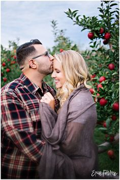 I love the comfort of the poses in this Apple Orchard Photography, Autumn Photography, Couple Photography, Engagement Photography, Scenic Photography, Fall Couple Photos, Fall Family Pictures, Photo Couple, Fall Photos