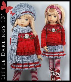 OOAK-FALL-Outfit-for-Little-Darlings-Effner-13-by-Maggie-Kate-Create. SOLD for $102.50 on 9/29/14