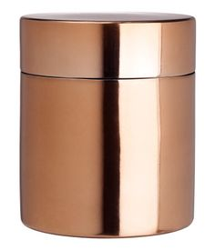 from hm home and sooo cheap ! Copper Kitchen Decor, Kitchen Cabinets Decor, Kitchen Decor Themes, Copper Canisters, Coffee Theme Kitchen, Copper Interior, Hm Home, Packing Jewelry, Copper Accents