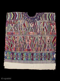 Cotton, metal snaps, or earlier cm) high by cm) wide. private San Francisco collection The hand-spun white cotton thread of this huipil was hand woven . Guatemalan Textiles, Caftans, Hand Spinning, Cotton Thread, Santa Maria, Central America, Textile Art, White Cotton, Fiber Art
