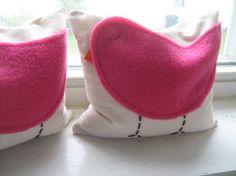 Hot Pink Birdie Beanbag Bookends by harperjanssen on Etsy.