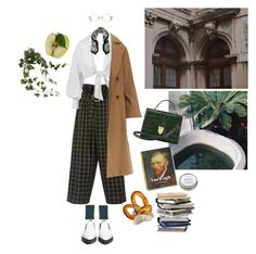 """""""Cloudy evenings in the univeristy's garden"""" by distopia on Polyvore featuring moda, Rejina Pyo, Montana, Brunello Cucinelli, Aspinal of London, Jefferies Socks, Versace, Alexander Wang e CB2"""
