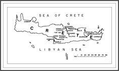Map of Minoan-Mycenaean Crete