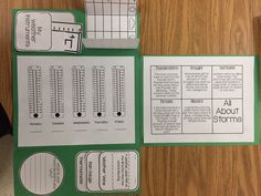 Weather Lapbook!  Great addition to any classroom learning about weather, storms, and weather instruments.  Easy to put together.  Great science unit!