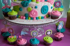 what a cute idea for lil girl bday cake!