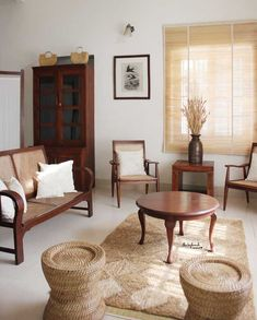 Indian Living Rooms, Home Living Room, Living Room Furniture, Living Room Designs, Living Room Decor, Rustic Furniture, Furniture Ideas, Modern Furniture, Ethnic Home Decor