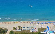 Aerial view of the beach, taken by Albert Richwagen from Delray Beach Water Sports.