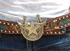 Our WINgs of luck buckle is sooooo totally killer kewl! PewtER buckle ... wings, stars, and horseshoes