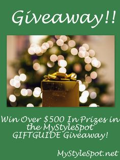 win over $500 in prizes in the Mystylespot gift-guide-giveaway #contest #win #sweeps #giveaway #mystylespot #giftguide #giftguidegiveaway #giftideas #gifts #giftsforher #beauty #fashion #home #art #fitness #health #wellness #mystylespot