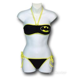 Buy Batgirl Bandeau Bikini (XL) at Mighty Ape NZ. Show your love for the Caped Crusader even while you're at the beach this summer in the Batgirl Bandeau Bikini! Featuring Batman's yellow and black co. Cute Bikinis, Cute Swimsuits, Women Swimsuits, Batgirl, Bandeau Bikini, Bikini Swimwear, Bikini Set, Geeks, Cool Outfits