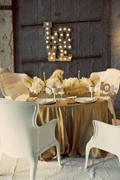 Romantic table setting #Tables #Home