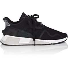 adidas Men's Men's EQT Cushion ADV Sneakers (7.450 RUB) ❤ liked on Polyvore featuring men's fashion, men's shoes, men's sneakers, men, black, mens low tops, mens retro shoes, mens black lace up shoes, mens rubber sole shoes and mens sneakers
