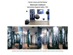 Beautiful cyanotype exhibition by Carolyn Lewen and Neil Stanyer. Watermarks: Confluence exhibition. Warrnambool Regional Gallery, 1999