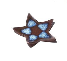 Star Dish Stoneware Pottery by midnightcoiler on Etsy