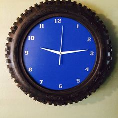 dirtbike tire clock by BMPRODUCTS on Etsy