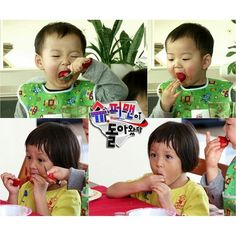 minguk and sarang eat strawberry