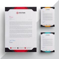 Modern company letterhead Letterhead Sample, Company Letterhead Template, Letterhead Business, Stationery Templates, Letterhead Design Inspiration, Magazine Page Layouts, Modern Business Cards, Business Style, Business Ideas