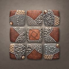 Pinwheel Pattern: Christopher Gryder: Ceramic Wall Art | Artful Home...this is such an intriguing piece of art. Love the texture, colors and feel of metal!