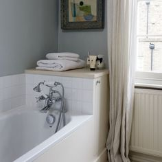 Small bathroom with built-in bath | Small bathroom ideas | housetohome.co.uk