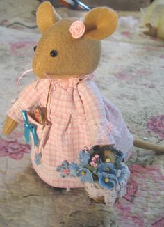 TITTLEMOUSE...inspired by the enchanting stories of Brambly Hedge   Reserved for Olga. $47.00, via Etsy.