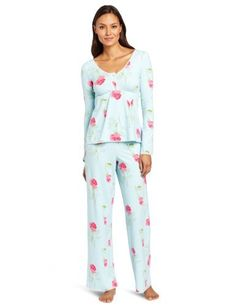 BedHead Pajamas Women's Long Sleeve Empire Waist Lounge Set:Amazon:Clothing