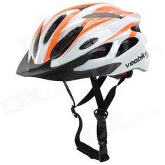 Veobike V-03 Stylish Outdoor Bike Cycling Helmet - Orange   White Price: $28.23