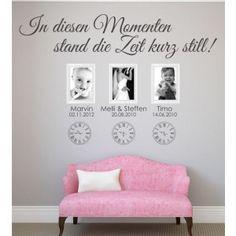 In diesen Momenten stand die Zeit still mit individuellen Namen und Daten - Jetzt deine Wandgestaltung auf www.wandtattoo-home.de bestellen