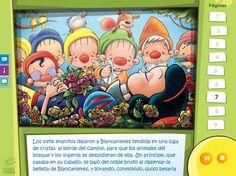 Blancanieves - Cuentos clásicos con opción de idiomas y audio en castellano, catalán e inglés Snow White, Audio, Frame, Decor, Short Stories, Interactive Whiteboard, Woodland Animals, Picture Frame, Decoration