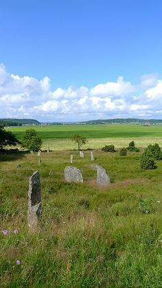 Li grave field dates from the Iron Age (approximately 800?1100 A.D.). It is one of the finest examples of its kind in Sweden, with more than 100 bauta stones. The grave field has often been noted by travellers and writers.