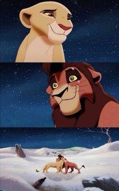 "Kovu (Jason Marsden) and Kiara (Neve Campbell) from ""The Lion King Simba's Pride"" Disney Pixar, Arte Disney, Disney And Dreamworks, Disney Magic, Disney Art, Disney Characters, Fictional Characters, Lion King 3, Lion King Movie"