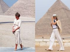 Travel Bag Essentials, Packing Tips For Travel, Pith Helmet, Outfits Mujer, Travel Clothes Women, First Lady Melania Trump, India, Travel Style, Travel Fashion