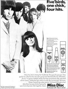 Yardbirds hairspray ad. circa 1968.