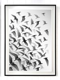 """Bird prints for the Stolen Space Gallery – London – 2010, art exhibition 'Return to the Wild"""" by Kai and Sunny."""