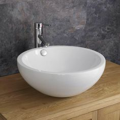 Trento 44.5cm Diameter Deep Round White Ceramic Basin