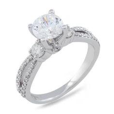 Malakan Jewelry - White Gold Semi-Mount Diamond Engagement Ring 25605AA